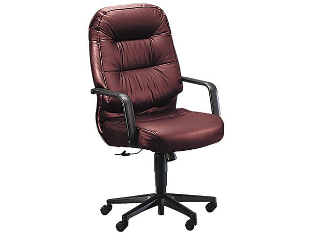 HON 2091SR69T Leather 2090 Pillow-Soft Series Executive High-Back Swivel/Tilt Chair, Burgundy