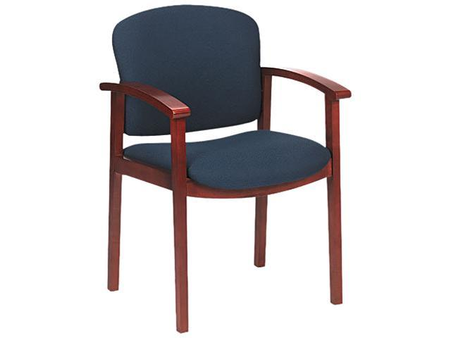 HON 2111JAB90 2111 Invitation Series Wood Guest Chair, Henna Cherry/Solid Blue Fabric