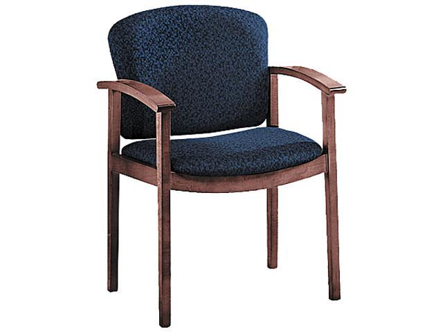 HON 2111NAB90 2111 Invitation Series Wood Guest Chair, Mahogany/Solid Blue Fabric
