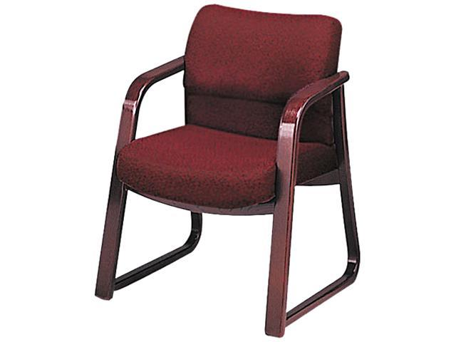 HON 2903NAB62 2900 Series Guest Arm Chair, Burgundy Fabric/Mahogany Finish Wood