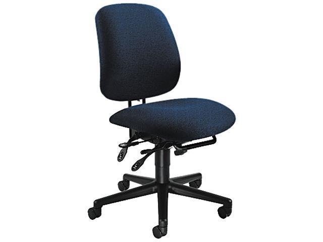 HON 7708AB90T 7700 Series Asynchronous Swivel/Tilt Task Chair, Seat Glide, Blue