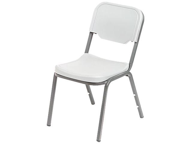 Iceberg 64013 Rough N Ready Original Stack Chair, Resin, Platinum, 4/Carton