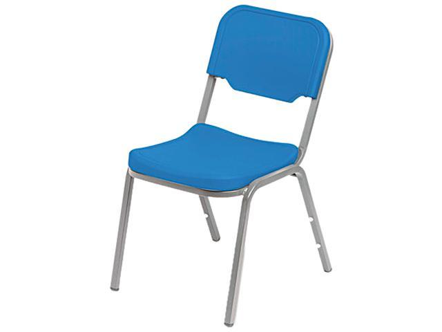 Iceberg 64016 Rough N Ready Original Stack Chair, Resin, Blue, 4/Carton