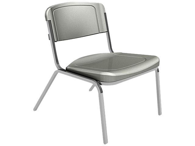 Iceberg 64027 Rough N Ready Big & Tall Stack Chair, Resin, Charcoal, 4/Carton