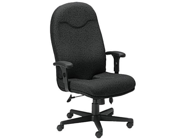 Mayline Comfort 9413AG High Back Executive Chair - Fabric Black Seat - 27