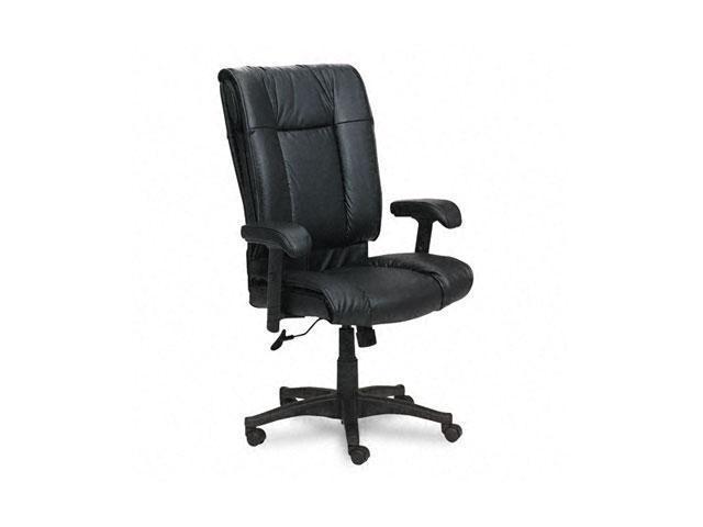 Office Star EX9382-3 93 Series Executive Leather High-Back Swivel/Tilt Chair, Black