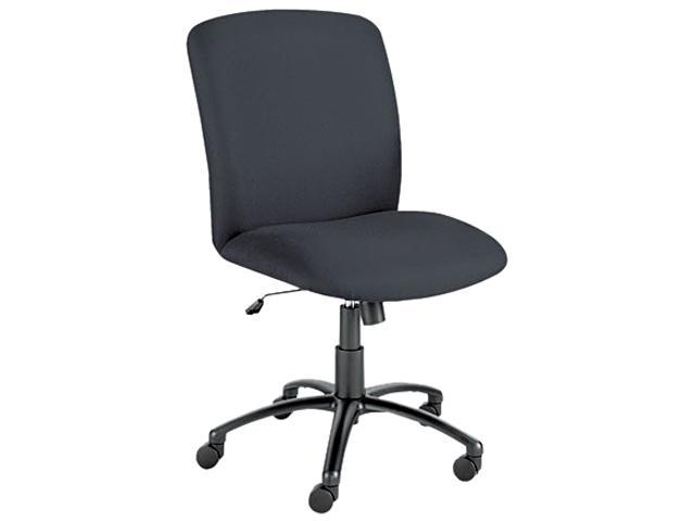 Safco 3490BL Chair, High-Back, Big & Tall, Black