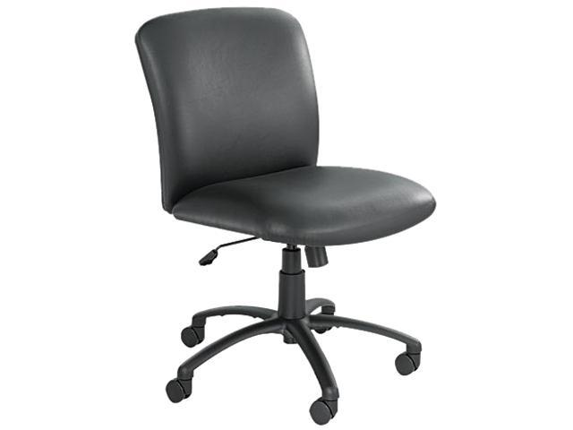 Safco 3491BV Uber Series Big/Tall Swivel/Tilt Mid-Back Chair, Vinyl, Black