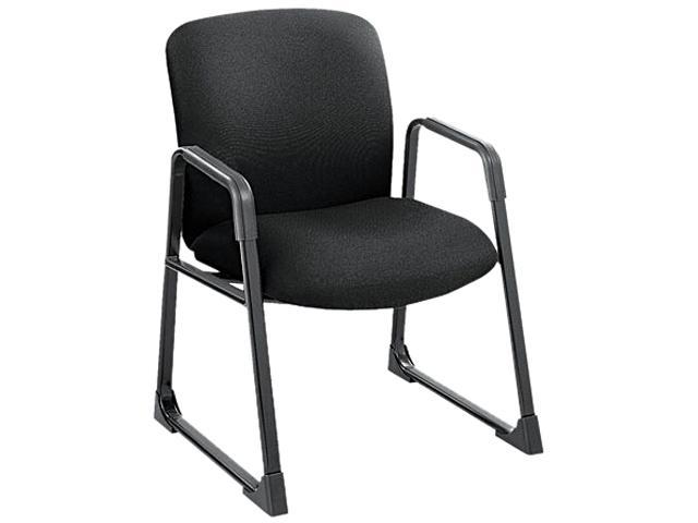 Safco 3492BL Guest Chair, Big & Tall, Black