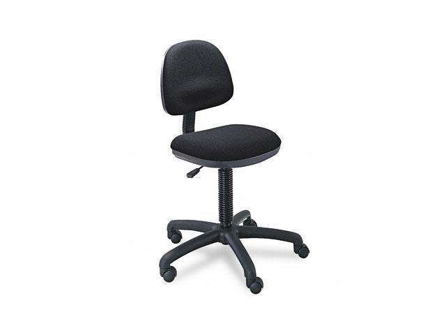 Safco 3380BL Precision Desk-Height Swivel Chair, Black Fabric