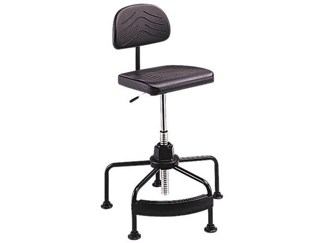 Safco 5117 TaskMaster EconoMahogany Industrial Chair, Black