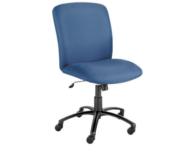 Safco 3490BU Chair, High-Back, Big & Tall, Blue