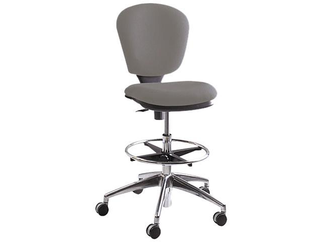 "Safco 3442GR Metro Extended Height Swivel/Tilt Chair, 22-33"" Seat Height, Gray/Fabric"