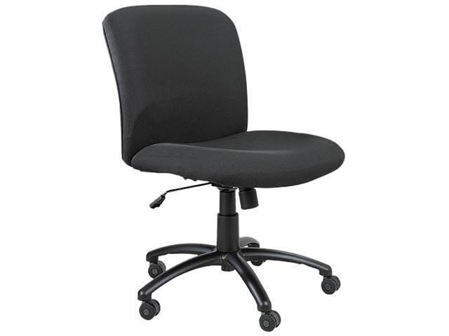 Safco 3491BL Chair, Mid-Back, Big & Tall, Black