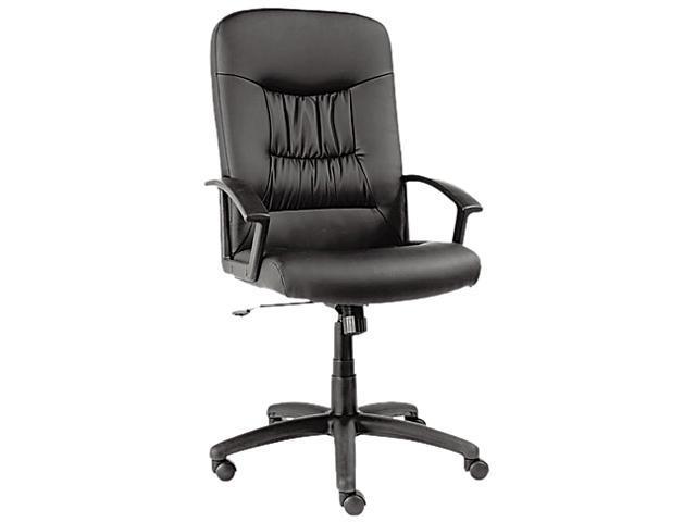 Alera York Series YK41LS10B (ALEYK41LS10B) High-Back Swivel/Tilt Chair, Black Leather