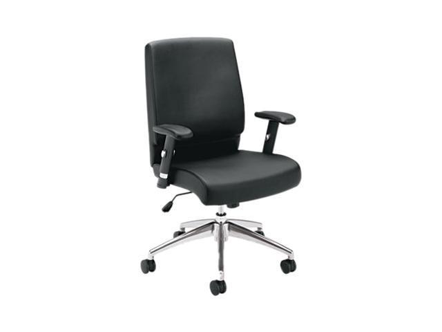Basyx BSXVL101SB11 Vl101 Executive Mid-Back Chair, Black Leather