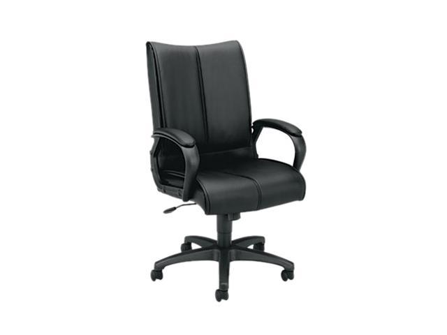 Basyx BSXVL111SB11 Vl111 Executive High-Back Chair, Black Leather