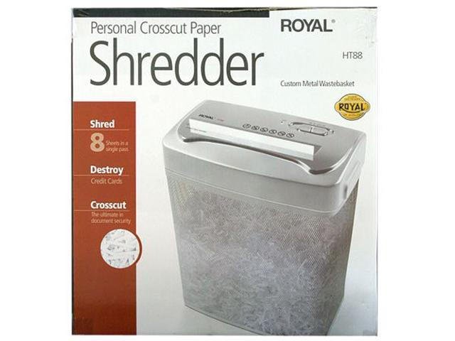 ROYAL HT88 (29176T) Cross Cut Shredder, 8 sheet capacity, 8.75