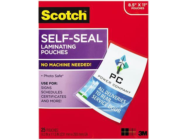 LS854-25G Scotch Self-Sealing Laminating Sheets, 9.5 mil, 8 1/2 x 11, 25/Pack