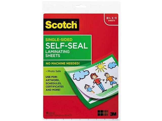 Ls854ss 10 Scotch Self Sealing Laminating Sheets 6 0 Mil