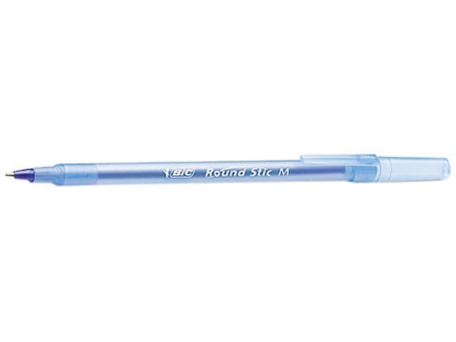 BIC GSM609-BE Round Stic Ballpoint Stick Pen, Blue Ink, Medium, 60 per Pack