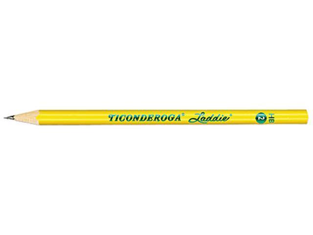 Dixon 13040 Ticonderoga Laddie Woodcase Pencil w/o Eraser, HB #2, Yellow Barrel, Dozen