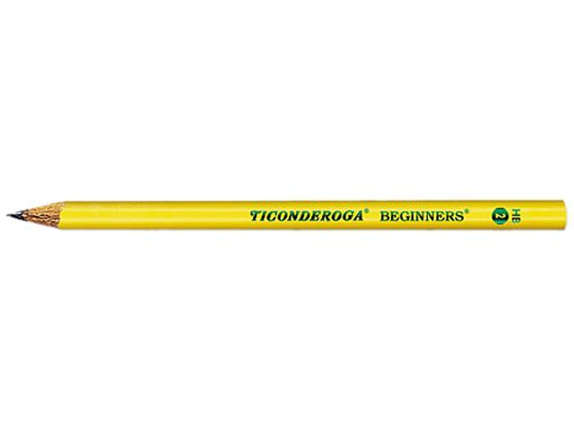 Dixon 13080 Ticonderoga Beginners Wood Pencil w/o Eraser, #2, Yellow Barrel, Dozen