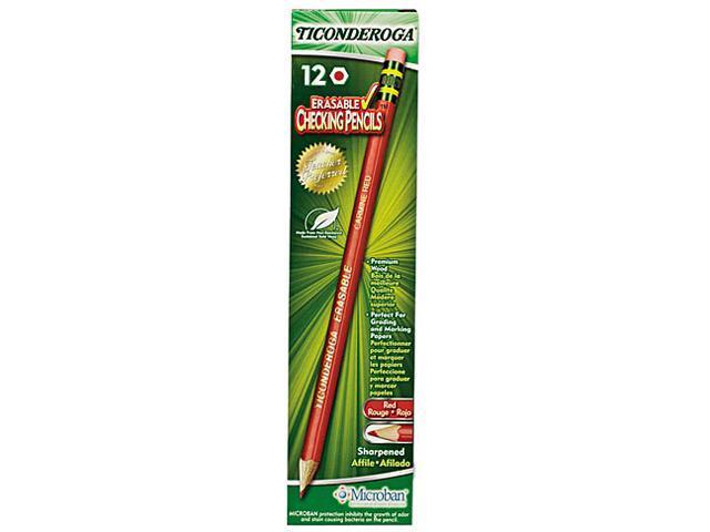 Ticonderoga 14259 Ticonderoga Erasable Colored Pencils, 2.6 mm, CME Lead/Barrel, Dozen