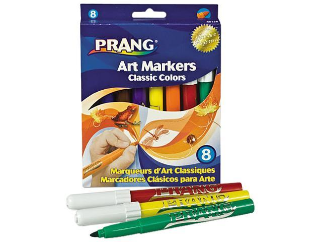 Dixon 80128 Prang Classic Art Markers, Conical Tip, Eight Colors, 8/Pack