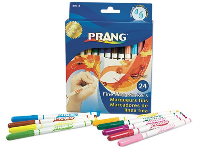 Dixon 80715 Prang Washable Markers, Fine Point, 24 Assorted Colors, 24/Set