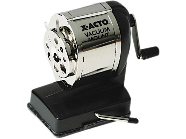X-ACTO 1072 Model KS Manual Sharpener, Vacuum Base, Black/Chrome