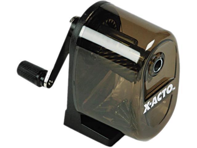 X-ACTO 1083 Manual Pencil Sharpener,Table-/Wall-Mount, Translucent Smoke/Black