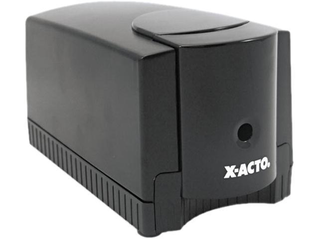 X-ACTO 1645 Deluxe Heavy-Duty Desktop Electric Pencil Sharpener, Black/Gray