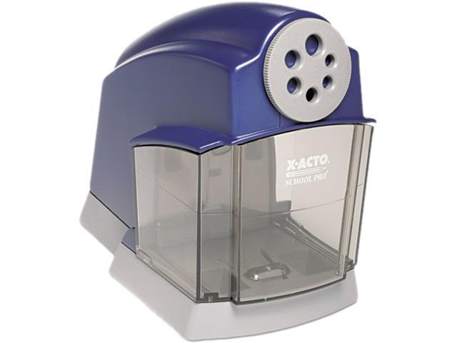 X-ACTO 1670 School Pro Desktop Electric Pencil Sharpener, Blue/Gray