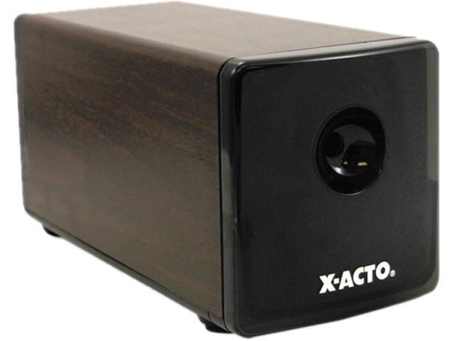 X-ACTO 1716 Heavy-Duty Desktop Electric Pencil Sharpener, Walnut Grain
