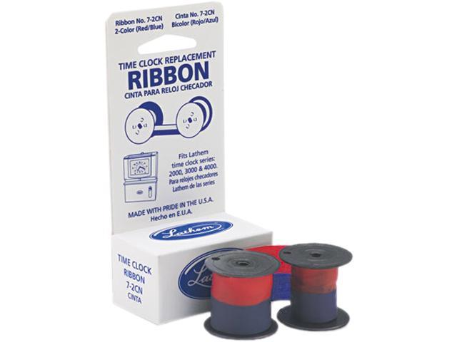 Lathem Time 7-2CN 72CN Ribbon, Blue/Red