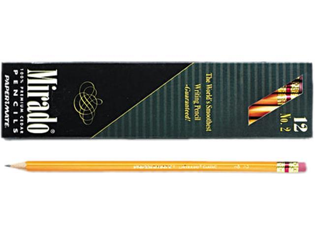 Paper Mate 2097 Mirado Woodcase Pencil, HB #2, Yellow Barrel, Dozen