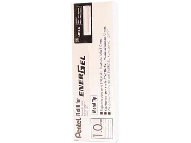 Pentel LR10-A Refill for EnerGel RTX, EnerGel Deluxe, Metal Tip, Bold, Black Ink