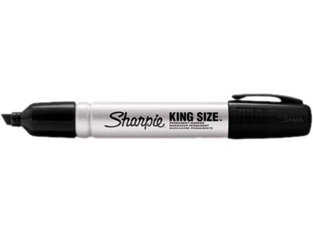 Sharpie 15001 King Size Permanent Marker, Chisel Tip, Black