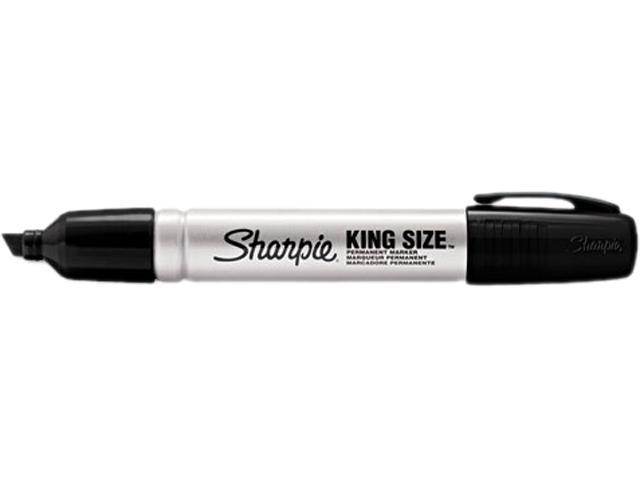 Sharpie 15661PP King Size Permanent Markers, Black, 4/Pack