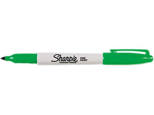 Sharpie 30004 Permanent Marker, Fine Point, Green, Dozen