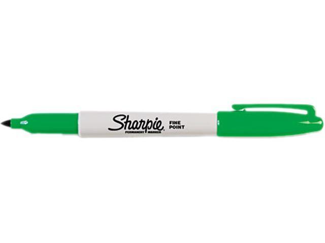 Sharpie 30004 Permanent Marker, Fine Point, Green, Dozen