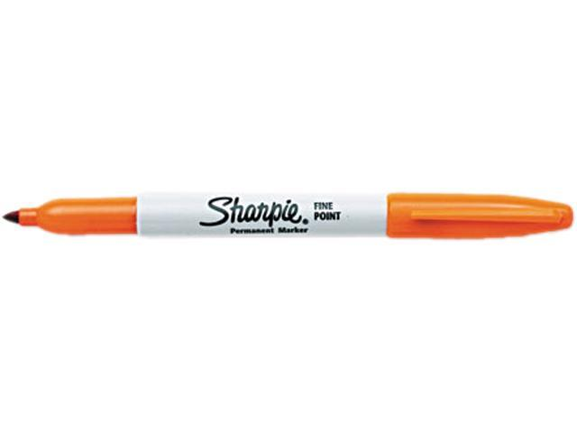 Sharpie 30006 Permanent Marker, Fine Point, Orange, Dozen