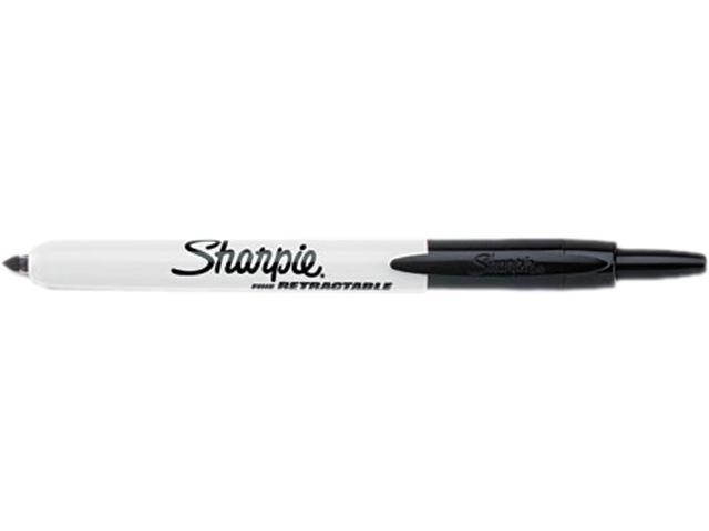 Sharpie 32701 Retractable Permanent Marker, Fine Point, Black