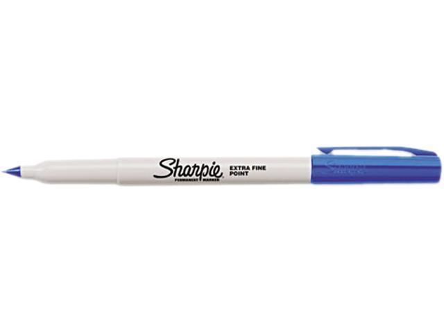 Sharpie 35003 Permanent Marker, Extra Fine Point, Blue, Dozen