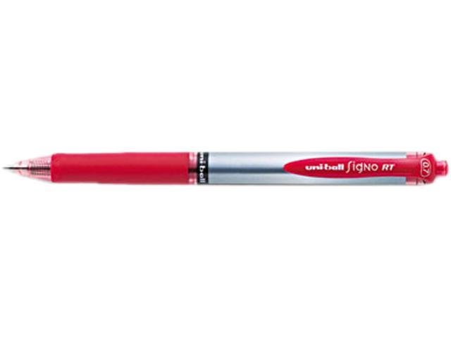 uni-ball 65942 Signo Gel RT Roller Ball Retractable Gel Pen, Red Ink, Medium, Dozen