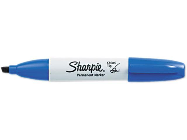 Sharpie 38203 Permanent Marker, 5.3mm Chisel Tip, Blue, Dozen