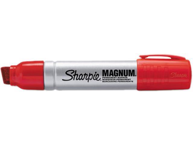 Sharpie 44002 Magnum Oversized Permanent Marker, Chisel Tip, Red