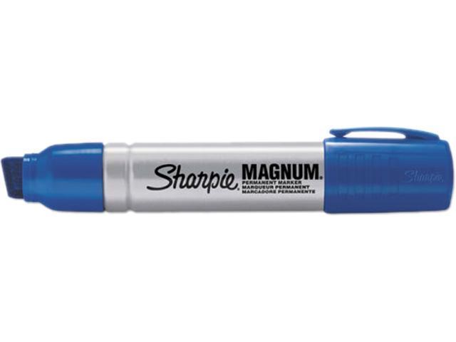 Sharpie 44003 Magnum Oversized Permanent Marker, Chisel Tip, Blue