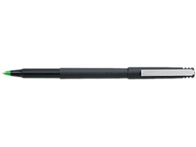 uni-ball 60104 Roller Ball Stick Dye-Based Pen Green Ink, Fine, Dozen